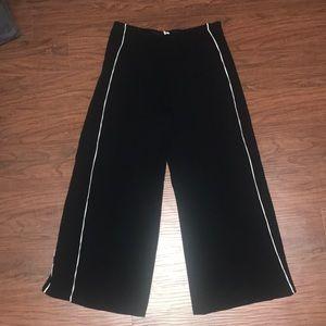 ASOS Black Wide Leg Pant w/ White Accent